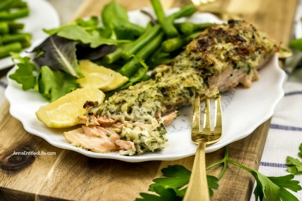 This easy to make baked salmon recipe with Parmesan herb crust is a fast dinner that is delicious any day of the week! From prep to table this oven baked salmon recipe is ready for your family in about 20 minutes. Truly one of the best baked salmon recipes you can make. Yummy!