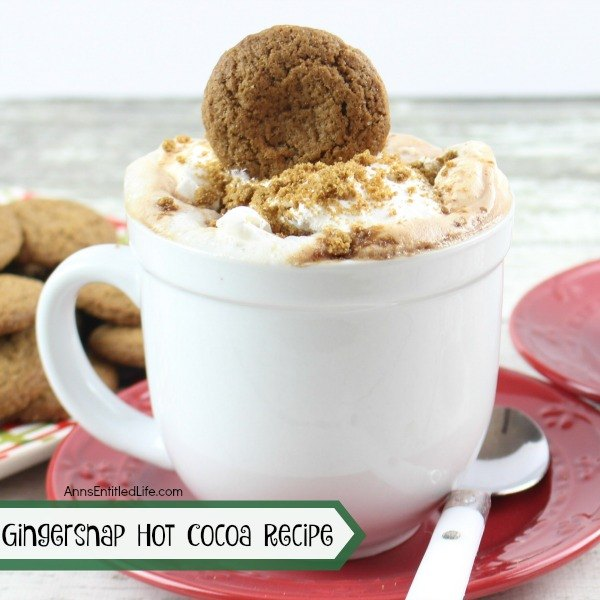 Gingersnap Hot Cocoa Recipe. This cozy and warm hot cocoa smells and tastes delicious! Your whole house will smell like gingerbread as it warms on the stovetop. This Gingersnap Hot Cocoa Recipe is easy to make, and really hits the spot on a cold winter night.