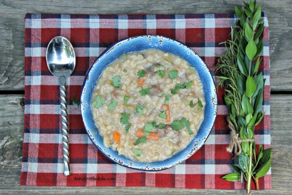 Instant Pot Hearty Beef Barley Soup Recipe. Beef barley soup is the ultimate comfort food! This hearty beef barley soup recipe is loaded with beef and vegetables, so thick and delicious it will remind you of grandma's recipe. Perfect for lunch or dinner, this instant pot beef barley soup is fantastic on a cold day.