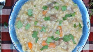 Instant Pot Hearty Beef Barley Soup Recipe
