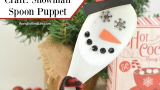 Wooden Spoon Craft: Snowman Spoon Puppet