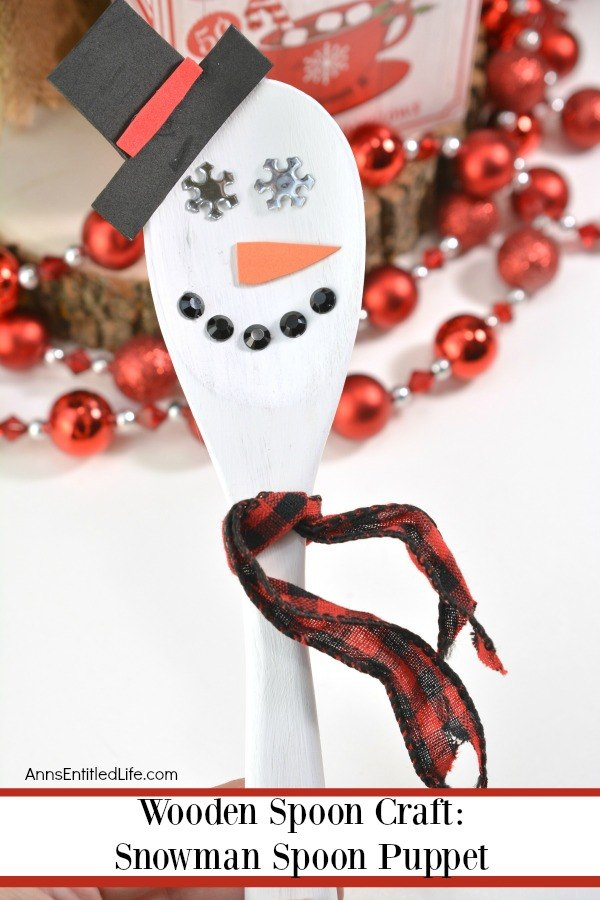 Wooden Spoon Craft: Snowman Spoon Puppet. Bring a little bit of the cold inside this winter and make your own Snowman spoon with these easy step by step instructions! This adorable little