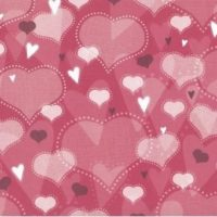12x12 Scrapbook Paper - Loads of Love Heart Prints - 4 Sheets