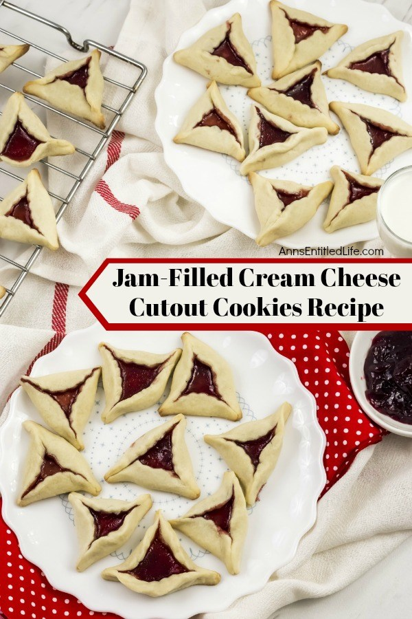 Jam Filled Cream Cheese Cutout Cookies Recipe. These delicious Jam Filled Cream Cheese Cutout Cookies smell divine and taste like grandma's cookies. The dough can be left natural, or add a few drops of food dye for a festive alternative that works well for any holiday or special occasion!