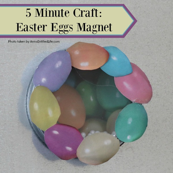 5 Minute Craft: Easter Eggs Magnet. Like easy crafts? This one is a real winner! In only 5 minutes you can create this fun Easter Egg magnet. This sweet little Easter holiday craft is so simple to make, nearly anyone can do it!