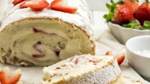 Easy Angel Food Cake Roll Recipe