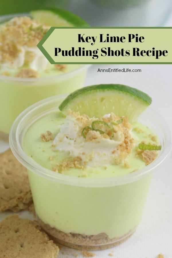 Key Lime Pie Pudding Shots Recipe. If you like the taste of key lime pie, you will love this adult version of a key lime pie in a pudding shot! Boozy and tangy with a touch of sweet, these key lime pie pudding shots are easy to make and simply delicious. A great pudding shot recipe to serve at to friends and family!
