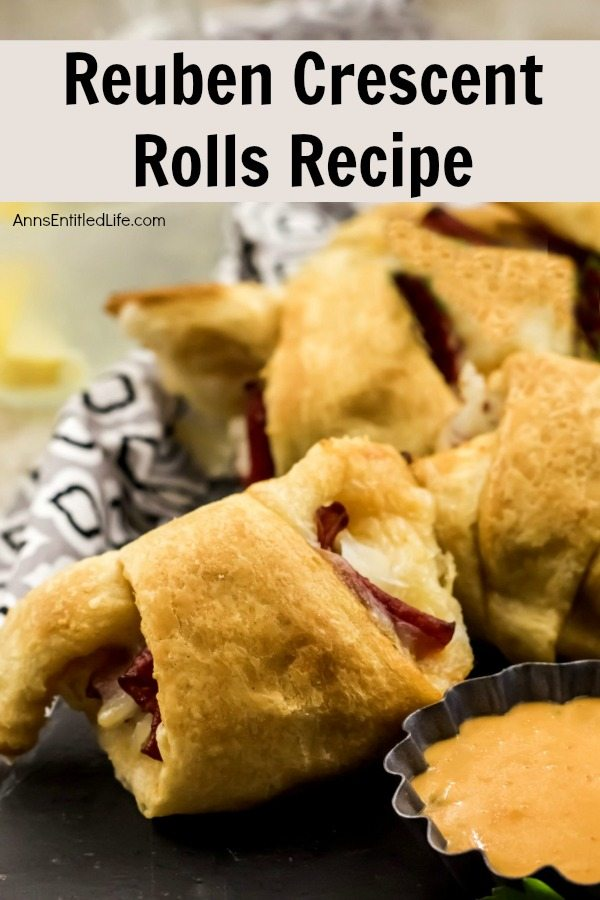 Reuben Crescent Rolls Recipe. These delightful little rolls are a fantastic combination of corned beef, swiss cheese, sauerkraut, and Thousand Island dressing for an updated twist on the classic deli sandwich. These Reuben crescent rolls are wonderful for serving as an appetizer, snack, or enjoying two or three for your lunch!