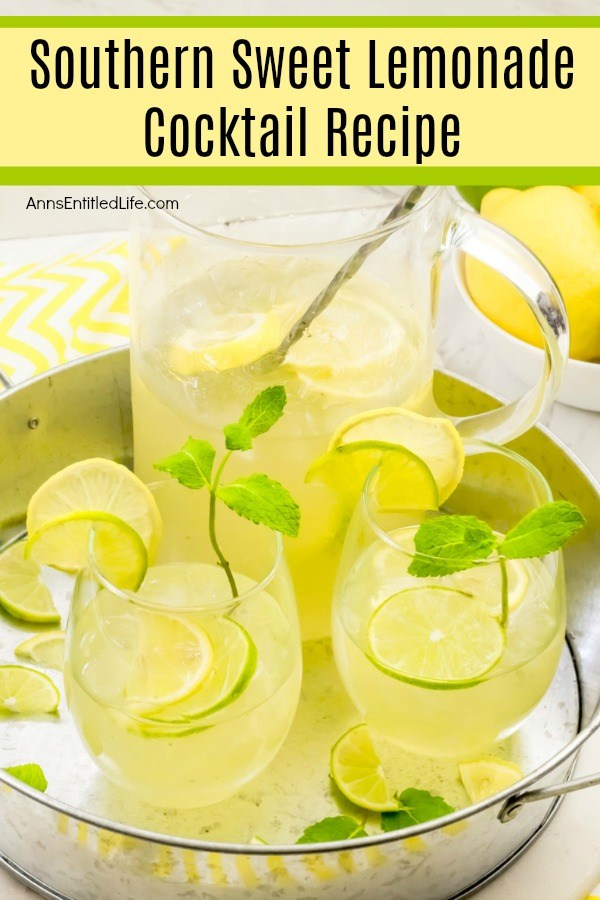 Southern Sweet Lemonade Cocktail Recipe. Be prepared - this may be your new go-to drink! It is light, refreshing, and seriously packed full of some super fantastic flavors. Who knew that bourbon and vodka would pair up so perfectly in this drink? This Southern Sweet Lemonade Cocktail is super simple to make, and totally delicious.