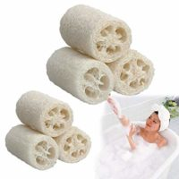 Vktech 3 Pcs Natural Loofah Luffa Loofa Bath Body Shower Sponge Scrubber (Large Size)