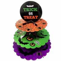 3 Tier Halloween Cardboard Cupcake Stand Tower Mini Round Cupcake Stand Dessert Cupcake Holder Halloween, Themed Party
