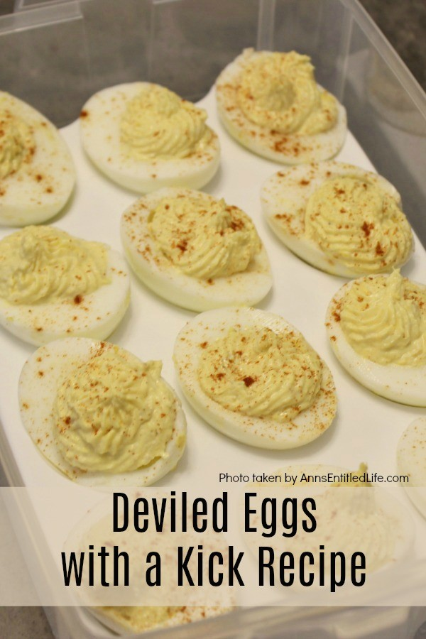 Deviled Eggs with a Kick Recipe. Like a bit of a kick to your deviled eggs? This deviled egg recipe contains a secret ingredient that packs some real heat. These delicious little devils can be served as an appetizer, or side dish. Perfect anytime of year.