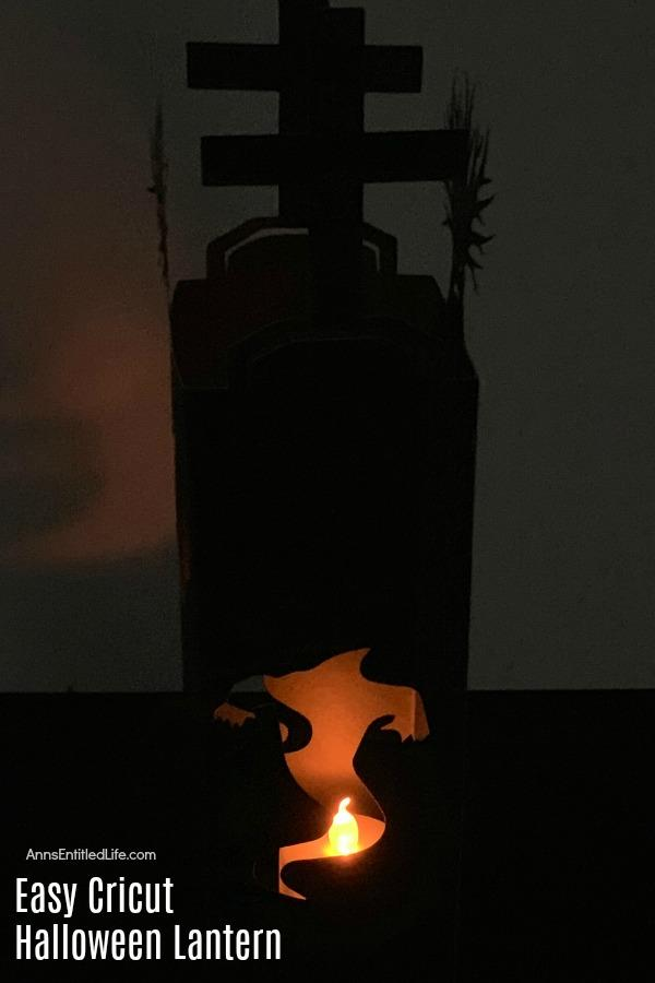 black paper ghost lantern with tealight flameless candle