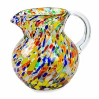 NOVICA Artisan Crafted Multicolor Hand Blown Recycled Glass Pitcher From Mexico 'Confetti' (71 oz)