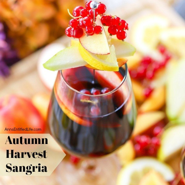 Autumn Harvest Sangria Recipe. This delicious autumn harvest sangria is the perfect recipe for fall! Made with delicious fruits from the bountiful gathering of end-of-season produce, this fall sangria recipe is perfect for gatherings or feasts! Try this fabulous sangria recipe tonight.