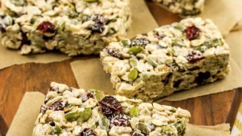 Gluten-Free Autumn Crisp Snack Bars Recipe