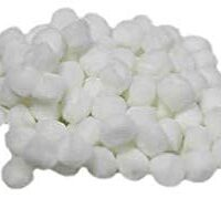 "Pom Pom 1/4"" Acrylic White 100pc/Pk"