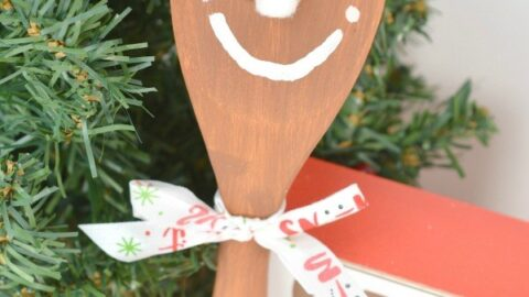 Wooden Spoon Craft: Gingerbread Spoon Puppet