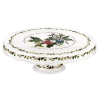 PORTMEIRION THE HOLLY & THE IVY Footed Cake Stand