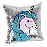 "Unicorn Reversible Sequins Throw Pillow Cover Decorative,Unicorn Birthday Gift for Girls,Magic Sequence Pillow Case Cushion Cover for Room,Bedding and Couch Sofa Decor(Only 16"" X 16"" Pillow Cover)"