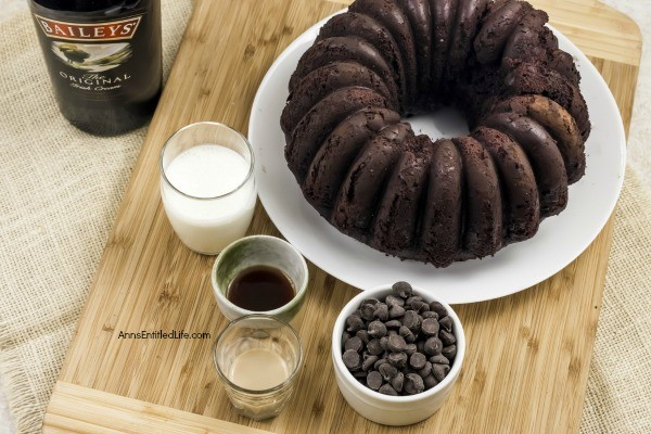 Baileys Irish Cream Hot Chocolate Bundt Cake Recipe. This chocolate cake recipe is rich, creamy, soft, and perfect for friends and family. The alcohol is cooked out of this cake, leaving behind only the delicious flavors of Baileys Irish Cream behind.