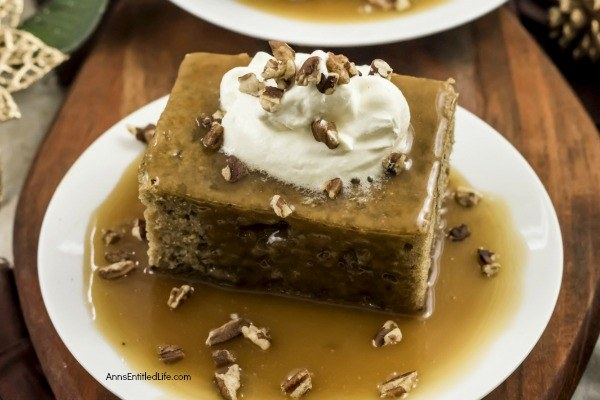 Sticky Toffee Pudding Recipe. Try a taste of the British life with this tantalizing Sticky Toffee Pudding. A soft date cake forms the base of this divine dessert, while a salty sweet sauce coats the top, lightly soaking the cake. Top this delicate delight with whipped cream and chopped pecans for the ultimate garnish combination and presentation.