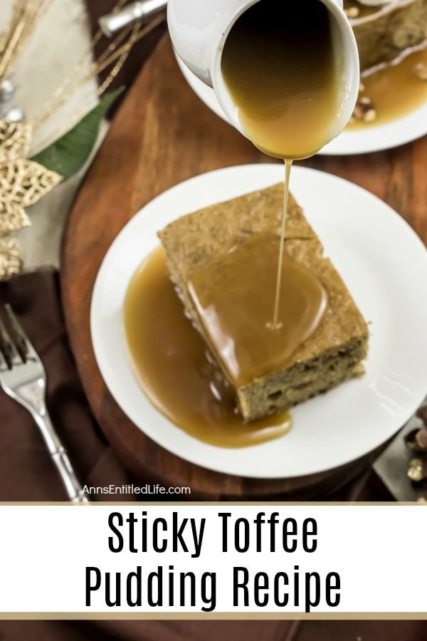 Sticky Toffee Pudding Recipe. Try a taste of British life with this tantalizing Sticky Toffee Pudding. A soft date cake forms the base of this divine dessert, while a salty-sweet sauce coats the top, lightly soaking the cake. Top this delicate delight with whipped cream and chopped pecans for the ultimate garnish combination and presentation.
