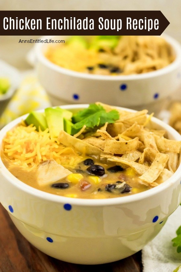 Chicken Enchilada Soup Recipe. Warm-up during those chilly winter months with a welcoming bowl of this Chicken Enchilada Soup. Capture all your favorite enchilada flavors in this easy and quick recipe. Black beans, juicy chicken, corn, and other staple enchilada ingredients come together to make the perfect soup recipe!