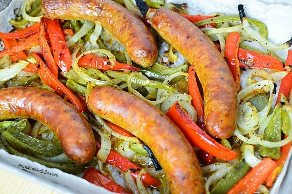 Oven Roasted Spicy Sausage and Vegetables Recipe. Need a fast and easy dinner recipe? This one-pan meal of oven-roasted spicy sausage and vegetables is just what your family ordered. This flavorful dinner can be served alone, over rice, or as a sandwich in a roll. Try this terrific recipe tonight!