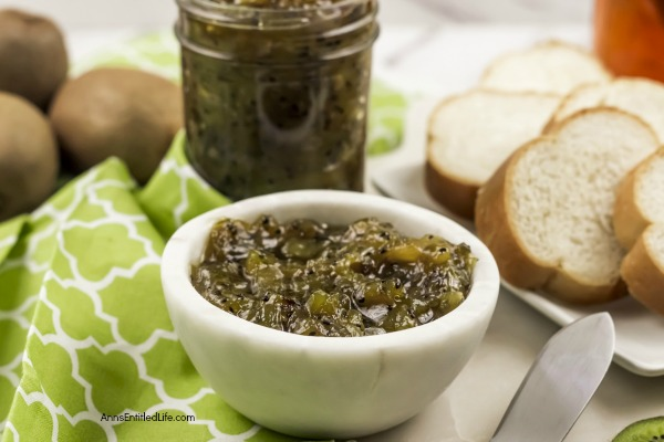 Easy Kiwi Fruit Preserves Recipe. This refrigerator preserves recipe is simple to make and comes together very quickly. Serve this kiwi preserves on bread, as part of a charcuterie board or as a glaze on your pork chops or tenderloin!