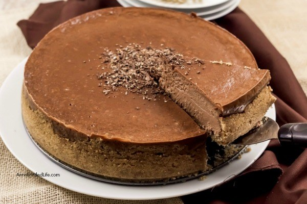 Chocolate Cheesecake Recipe. Satisfy those chocolate cravings with this rich and delicious cheesecake recipe. If you like chocolate, and if you like cheesecake, you want to give this recipe a try! Smooth, decadent, and creamy accurately describe this fabulous chocolate dessert recipe.