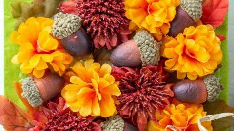 Autumn Leaf Napkin Holder: Dollar Store Craft