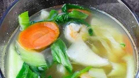 Instant Pot Shrimp and Bok Choy Soup Recipe