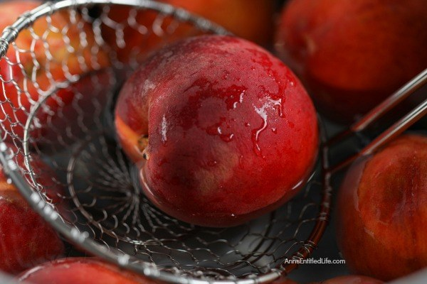 Canned Drunken Vanilla Bourbon Peaches Recipe. Canning peaches is a delicious way to preserve your fresh fruit peaches to eat when the peach season is over. This terrific drunken vanilla bourbon peaches water bath canning recipe is a great way to process your peaches. Can now, enjoy later!