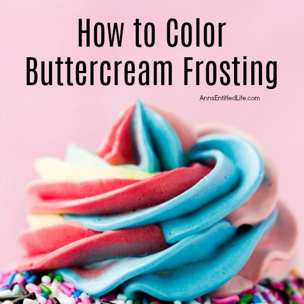 How to Color Buttercream Frosting. If you need some tips on how to color buttercream, you have come to the right place. You can learn how to take a classic buttercream recipe and turn it into the perfect color for your dessert creations. You will even find tips for coloring other frosting types as well.