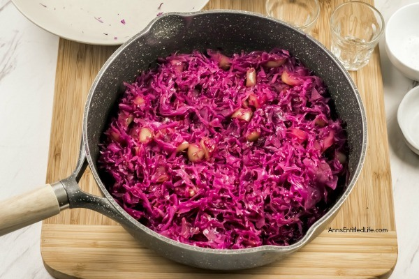 Pennsylvania Red Cabbage Recipe. If you need a beautiful and delicious side dish, you will want to whip up this Pennsylvania Red Cabbage recipe. Learn how to cook cabbage by making this easy, 15-minute cook, sweet and tangy cabbage recipe. Great for making ahead of time and storing until needed for dinner or lunch.