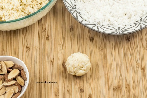 No-Bake Coconut Balls Recipe. It is a cookie! It is a candy! It is two treats in one. This is an easy to make, creamy and delicious no-bake coconut ball recipe with a nutty surprise in the middle. These coconut balls are delightful sweet treat your whole family will enjoy. Yum!