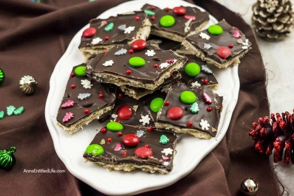Christmas Crack Candy Recipe. This Christmas crack candy recipe is a delicious, old fashioned blast from the past. It is great as a Christmas or holiday gift and is a very simple recipe. The perfect combination of salty and sweet comes together to form what some call saltine candy.  This toffee flavored candy can be quite addicting.