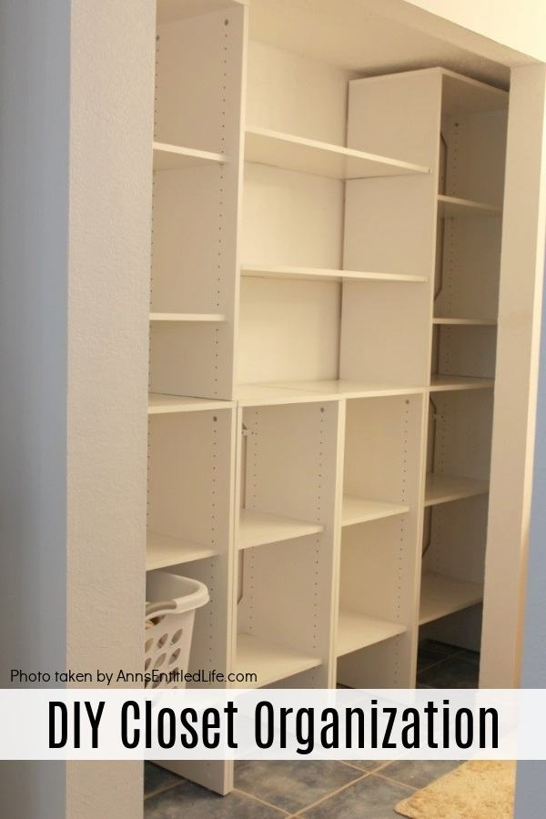 white closet cubby hole shelf organization and poles