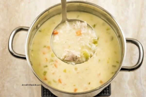 Cream of Chicken and Rice Soup Recipe. This cream of chicken and rice soup is a great use of leftover chicken! It is full of vegetables and a