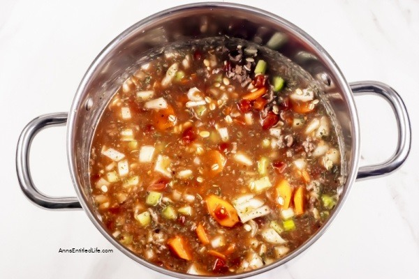 Beef Barley Soup Recipe. This hearty beef barley soup recipe is delicious and satisfying. It is filling enough to be a meal. Ground or cubed beef, carrots, onions, and celery along with an array of spices and barley make up this best tasting Beef Barley soup!