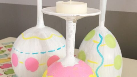 Easter Egg Wine Glass DIY