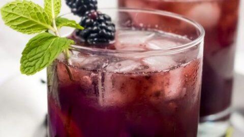 Blackberry Tom Collins Cocktail