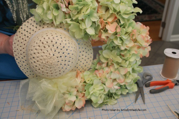 Hydrangea Wreath. A terrific summer or spring wreath, this simple 15-minute craft is perfect for your front door or as home decor on your wall or over your fireplace. Create a beautiful wreath with gorgeous hydrangeas in no time by following these step-by-step instructions. If hydrangeas are one of your favorite flowers, you will love this easy hydrangea wreath.