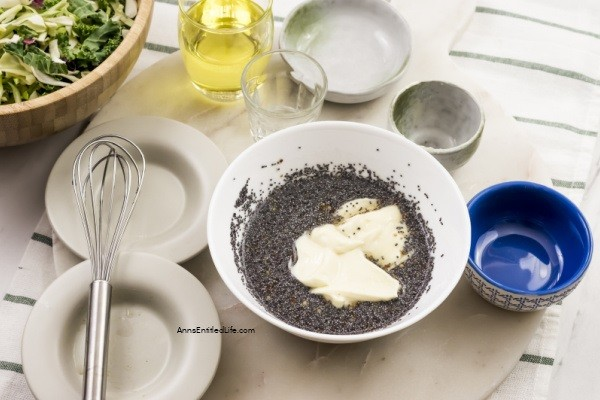 Poppy Seed Dressing Recipe. Homemade salad dressing is easier to make than you might think. With a few simple ingredients you can make this poppy seed salad dressing which is great on green salads, strawberry salads, or to serve with fruit.