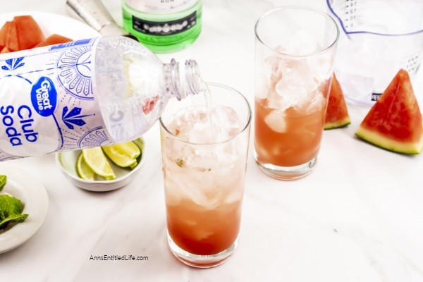 Watermelon Mojito Recipe. This fresh watermelon mojito recipe, with its hints of cool mint, and sour lime is the perfect cocktail to enjoy on a hot day. Made with fresh summer fruits and simple ingredients, you can almost taste the sunshine in every sip.