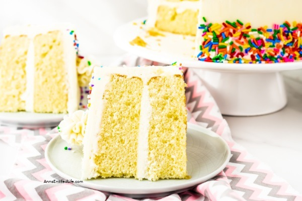 Best Vanilla Cake Recipe. Boxed cake mixes definitely have their place, but if you are looking for a delicious vanilla cake recipe from scratch, this is the cake recipe for you! Easier to make than you might think, this terrific vanilla cake is luscious and moist. It is the best vanilla cake recipe that your whole family to enjoy.