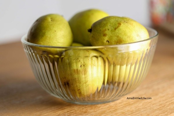 Canned Brandy Spiced Pears Recipe. 'Tis the season. If you have a lot of pears to preserve you will love this home canning recipe for pears. Rich and spicy, this canned pears recipe is the perfect way to preserve that fresh fruit bounty.